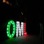 Leuchtbuchstaben zum 10. Jubiläum der Online Marketing Lounge