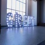 Leuchtbuchstaben Event