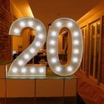 Leuchtzahlen zum Jubiläum