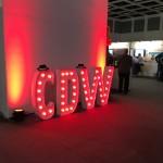 Leuchtbuchstaben Messe CDW