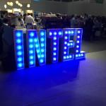 Leuchtbuchstaben Messe Intel