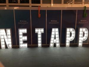 Leuchtbuchstaben Messe Netapp