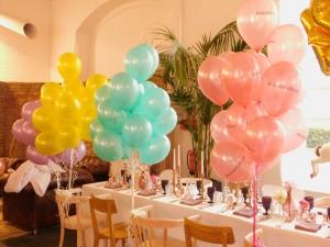 Ballondekoration Pastellballons