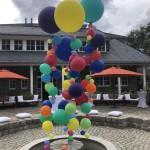 große Ballondekoration für die Party