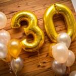 Ballondekoration zum Geburtstag