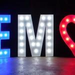 Leuchtbuchstaben zur EM 2016 in Frankreich