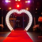 Unser Leuchtherz auf einer Hochzeit