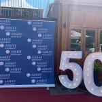 Firmjubiläum 50 Jahre, Eventdekoration